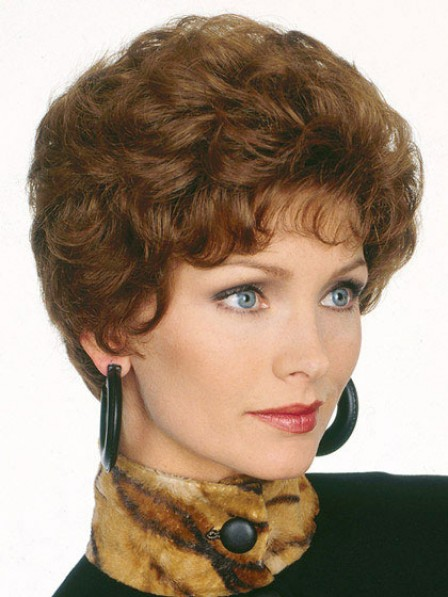 Short Wavy Heat Friendly Synthetic Wig With Bangs