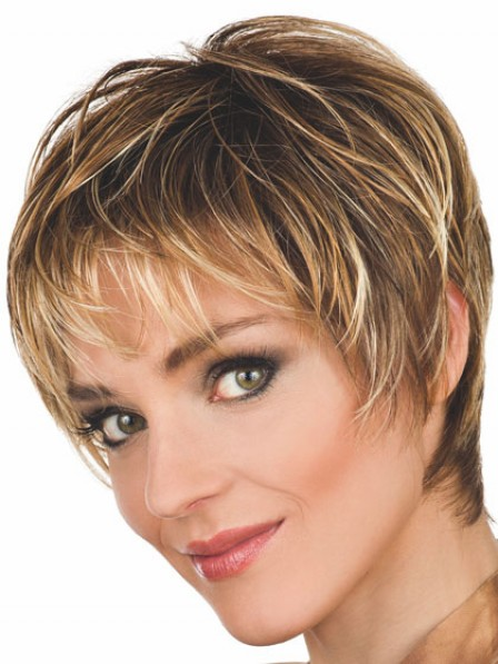 Wavy Synthetic Short Layered Wig With Bangs