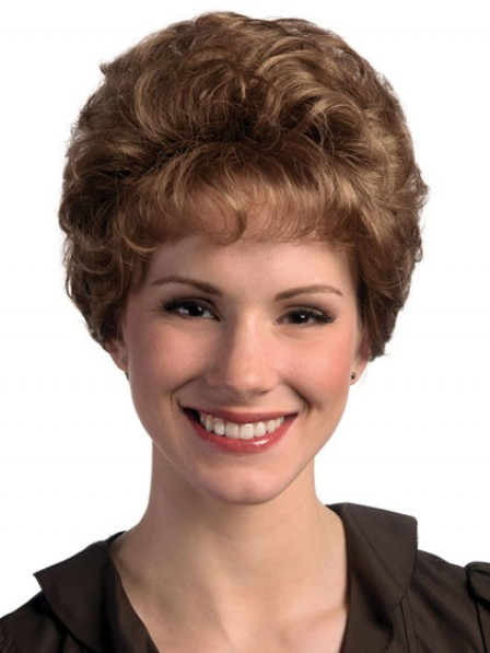 Short Curly Synthetic Capless Hair Wig