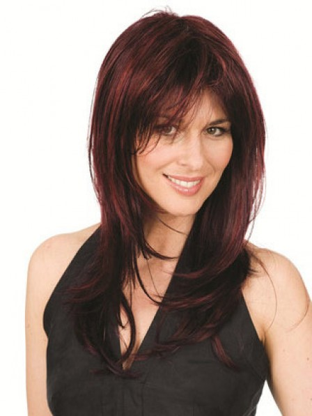 Long Layered Straight Synthetic Hair Wigs With Bangs