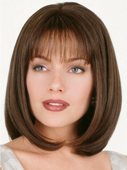 Shoulder Length Bob Straight Human Hair Wig