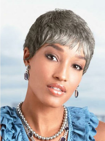 Synthetic Straight Pixie Cut Women Hair Wig