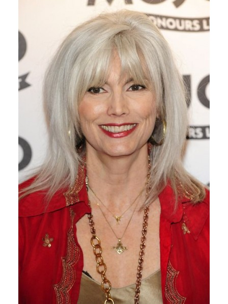 Shoulder Length Lace Front Grey Hair Wigs