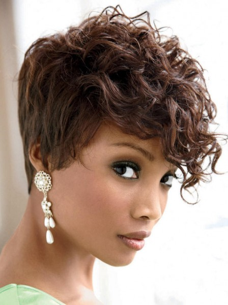 Wavy Cropped Capless Synthetic Wigs