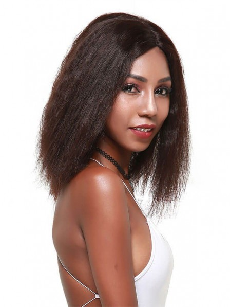 Yaki Straight Human Hair Wigs For Black Women Good Quality