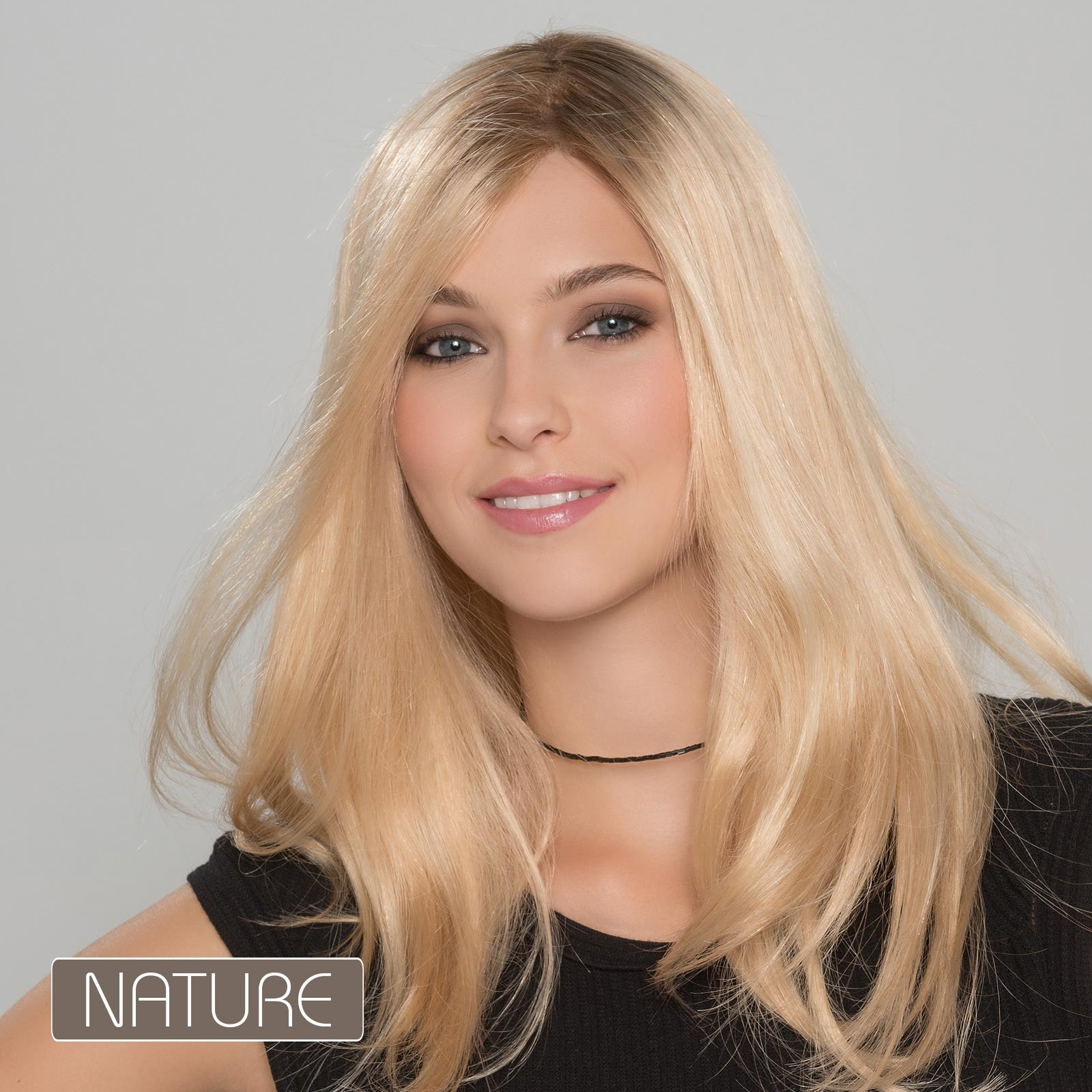 Fashion Long Straight Blonde Human Hair Wigs With Lace