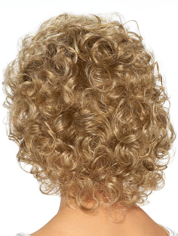 Classic Curly Cut Medium Synthetic Blonde Hair Wigs
