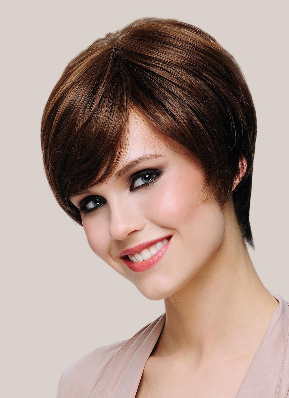 Fab Dark Brown Short Cut Women Wigs