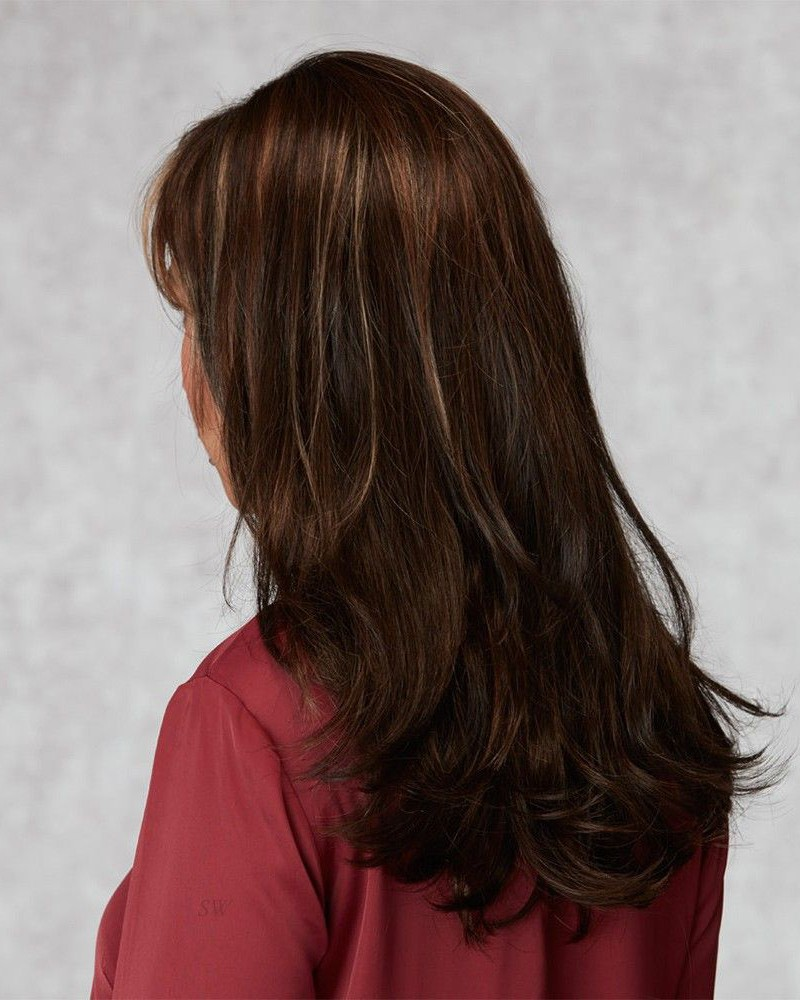 Ladies Long Dark Brown Capless Human Hair Wigs