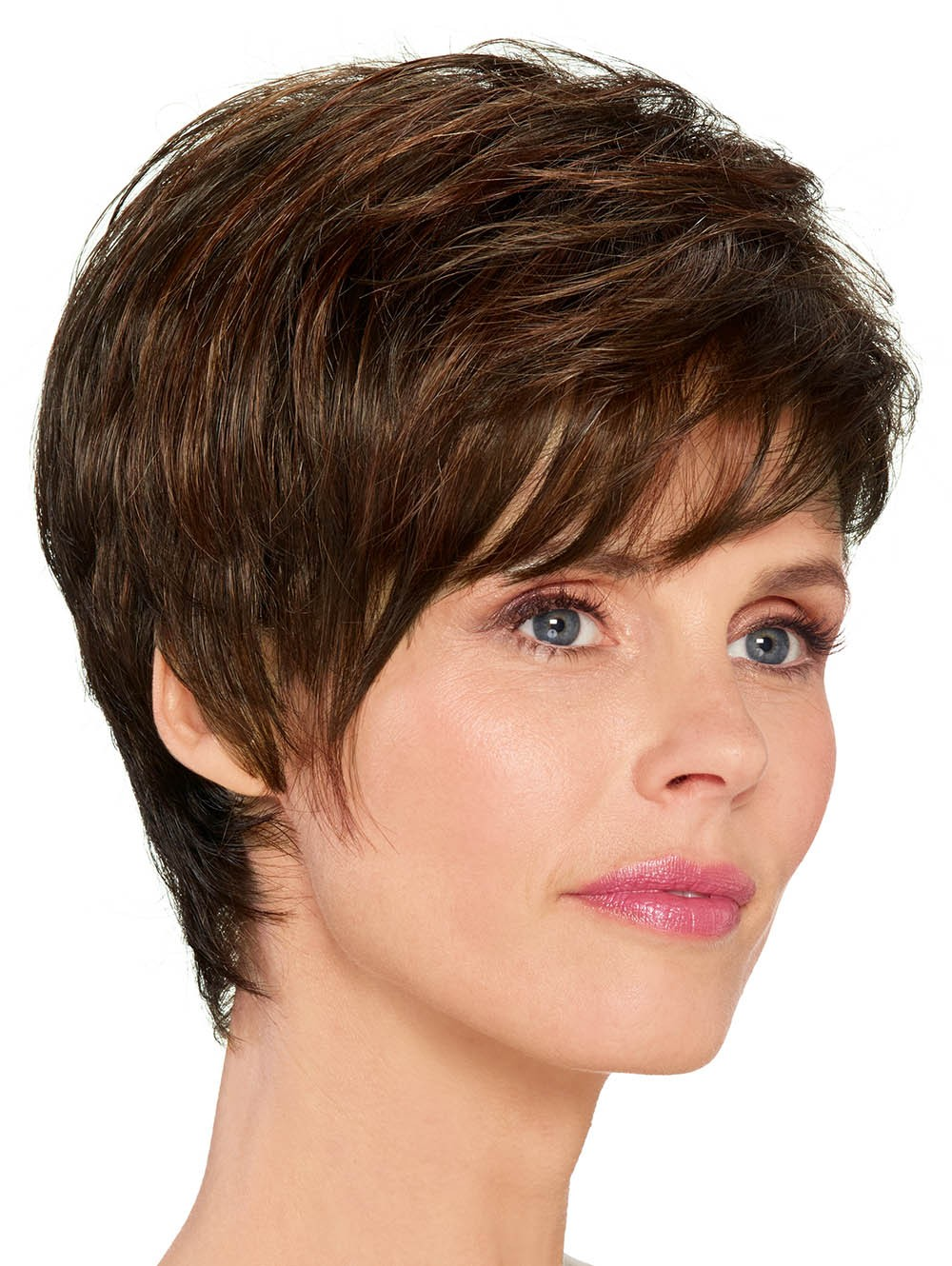 light Brown Short Cut Women Boy Style Wigs fd2177bbca