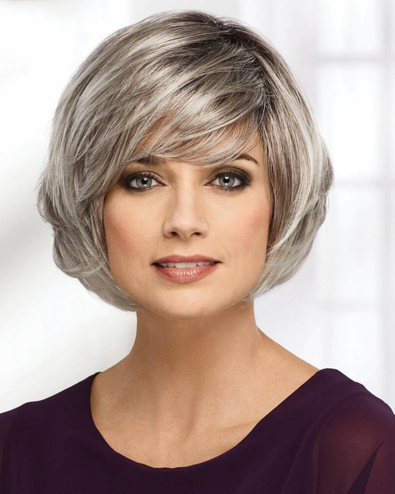 how to style bobbed hair medium bob style grey hair wigs 1624