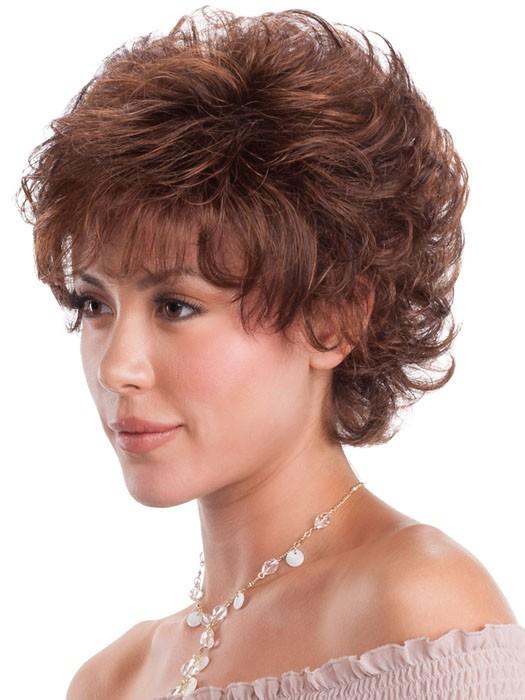 Natural Curly Look Short Cut Ladies Wigs