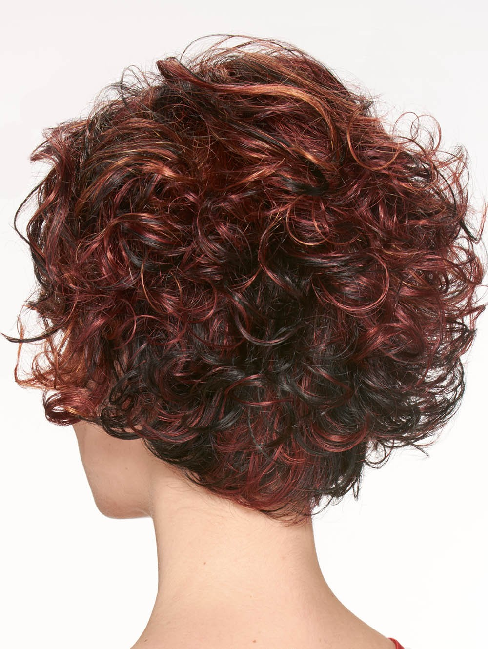 Red Short Curly Synthetic Hair Women Wigs