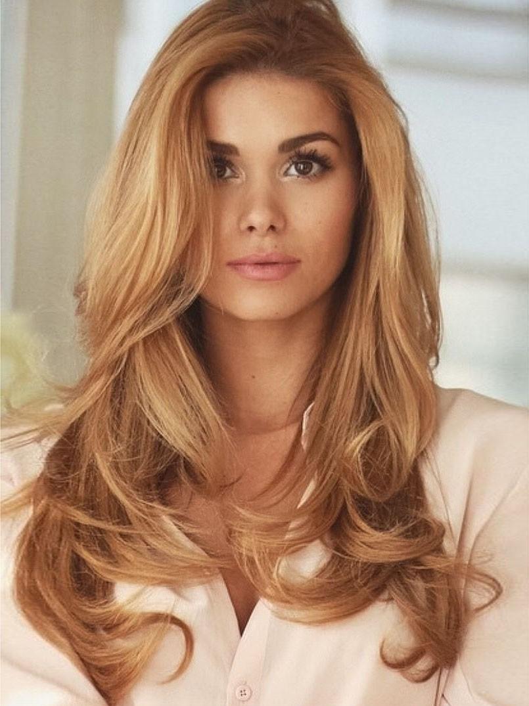 Best Long Copper Wavy Blonde Synthetic Hair Wig Rewigs Co Uk