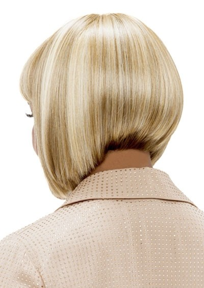 Blonde Angled Bob Style Wig With Bump Bang