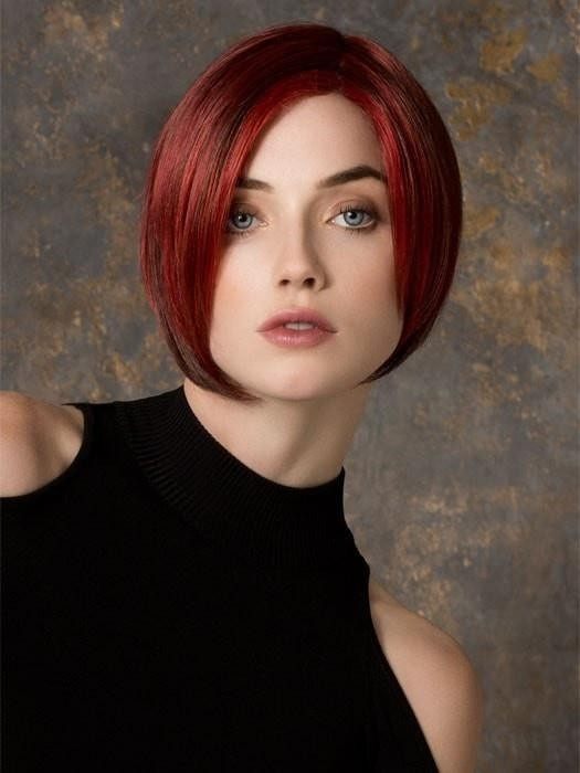Chin Length Angled Bob Lace Front Red Wigs