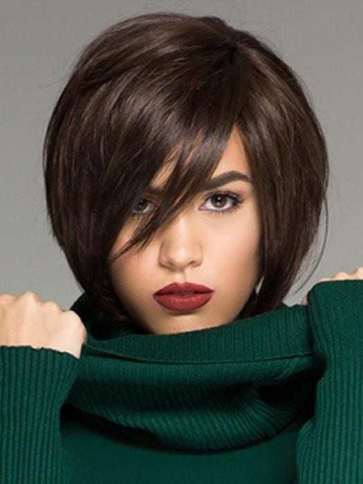 Chin Length Angled Bob Lace Front Wigs