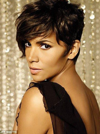 Halle Berry Best Short Pixie Cut Synthetic Hair Capless