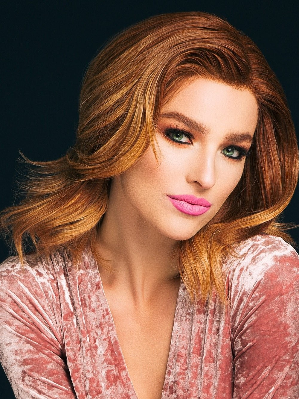 Lace Front Shoulder Length Wavy Wigs