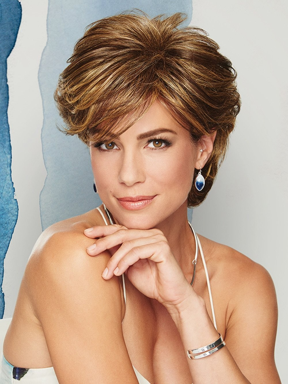 Layered Cut Short Women Synthetic Wigs with Side Bang