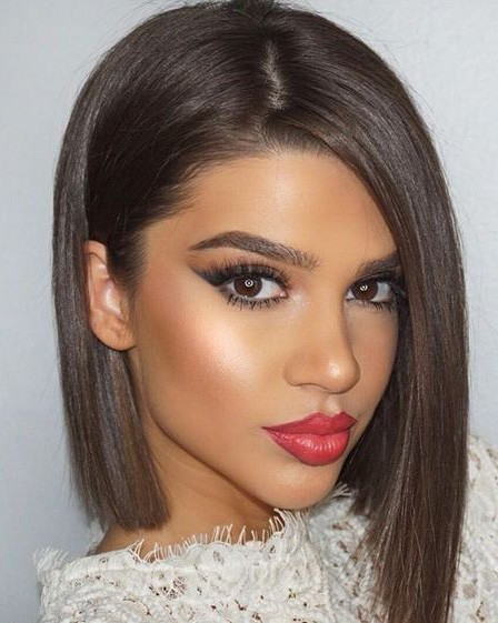 Light Brown Lace Front Mono Top Straight Bob Wigs