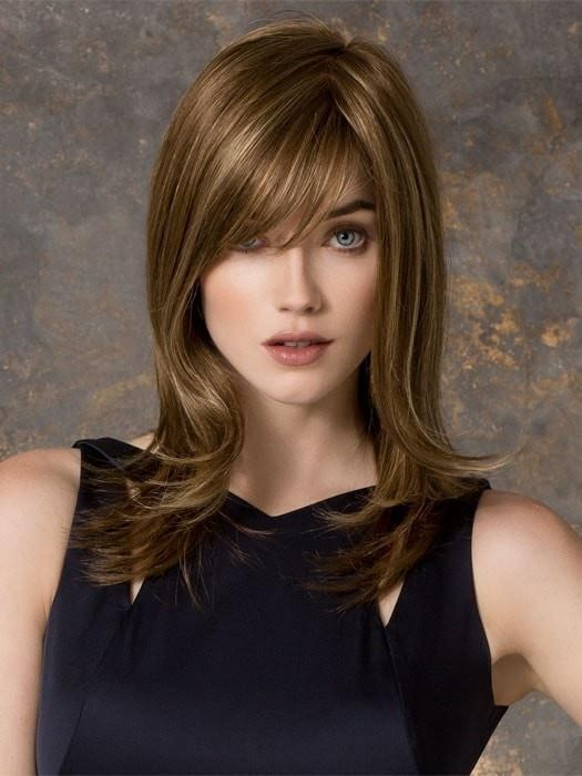 Long Blonde Lace Front Wigs With Bangs