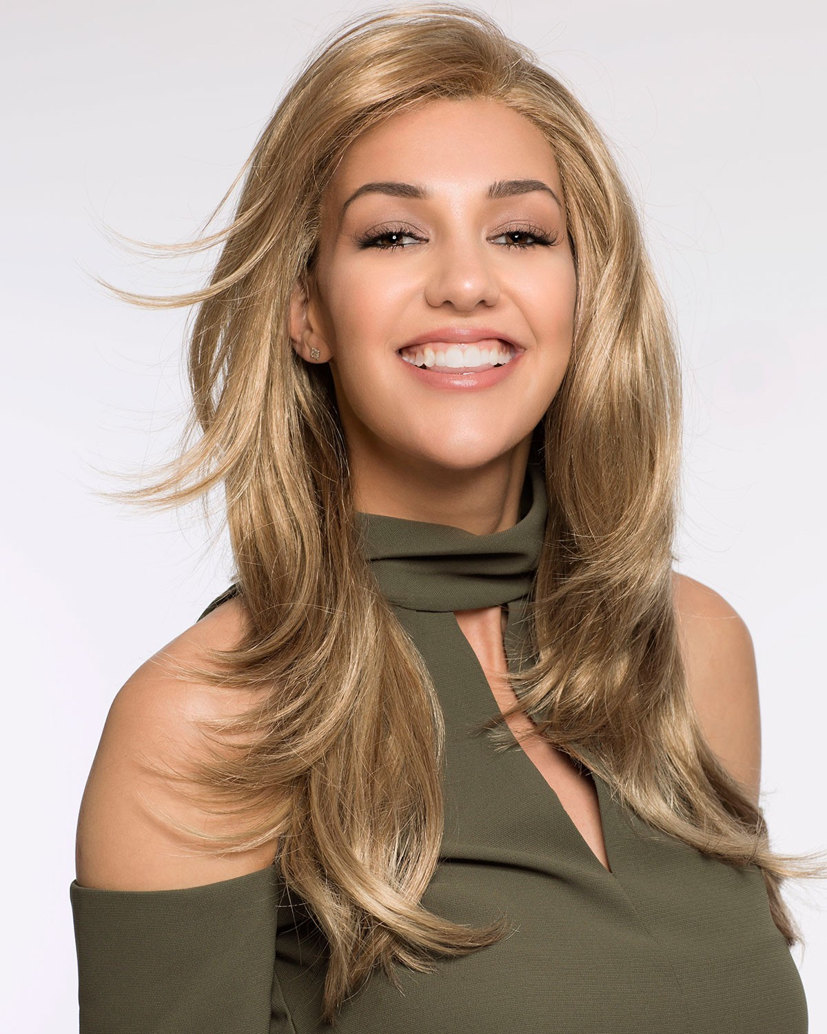 Long Layered Synthetic Blonde Hair Wigs
