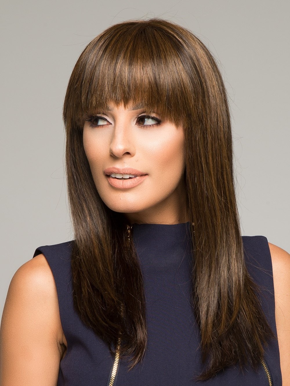 long straight human hair wigs modern hairstyle with a