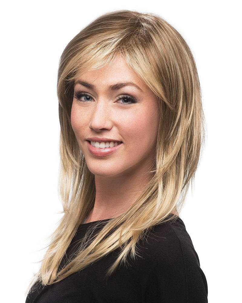 Long Straight Layered Lace Front Blonde Wigs