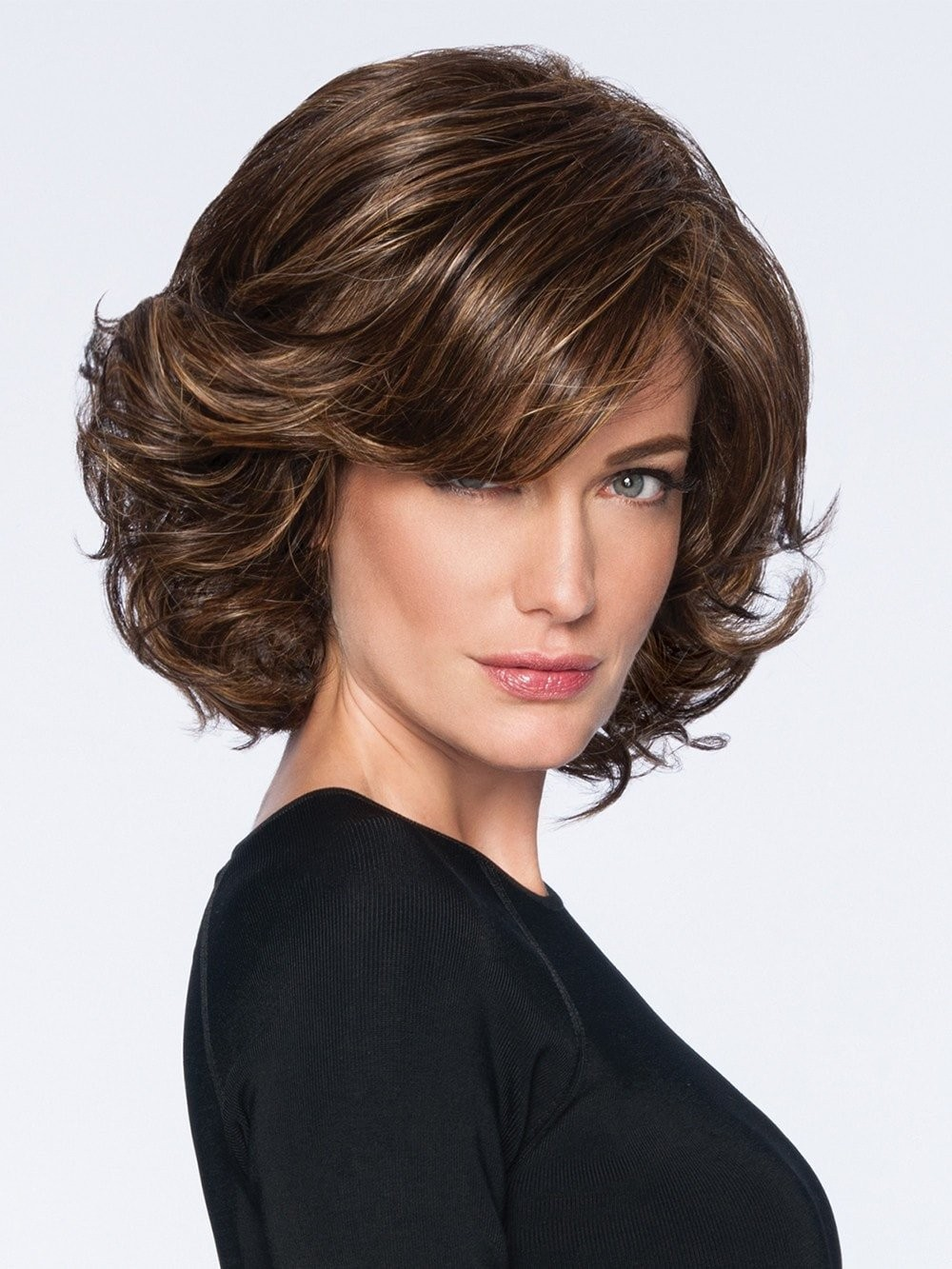 Mid Length Waved Bob Style Wigs