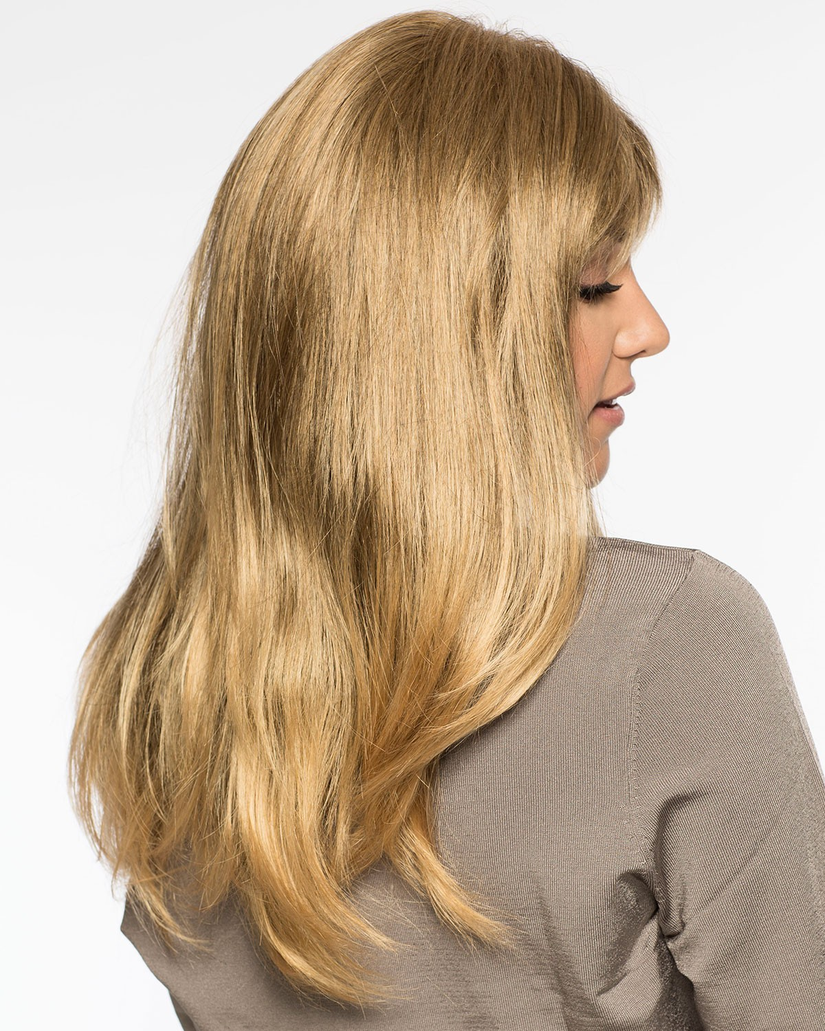 Natural Looking Long Layers Blonde Synthetic Wigs