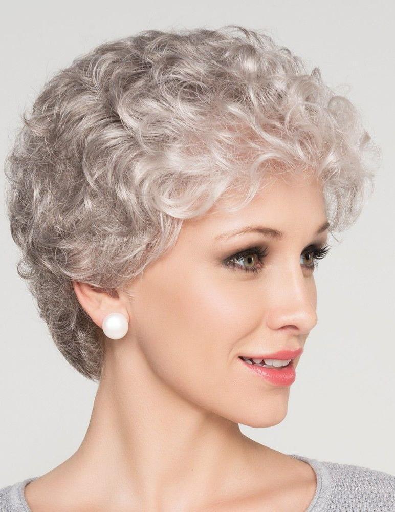short curly hairstyles grey hair