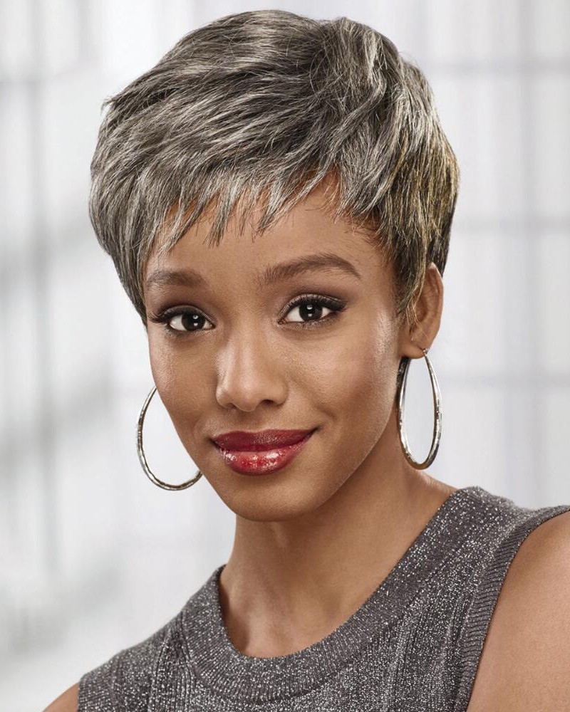 Pretty Pixie Wig With Smooth Layers And Piecey Bangs
