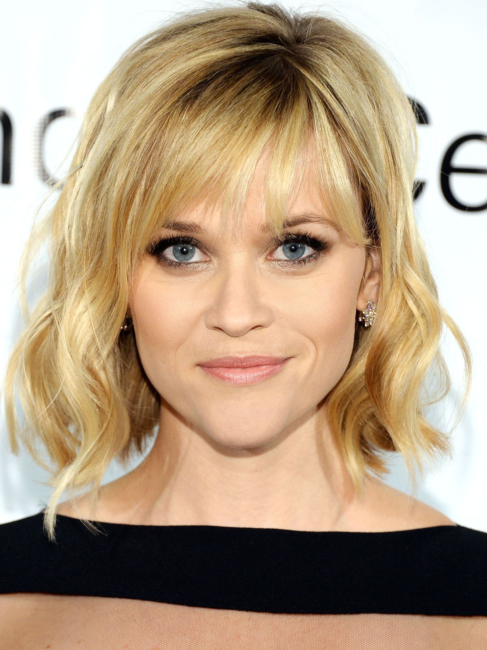 Reese Witherspoon Blonde Curly Hair Wig With Bangs