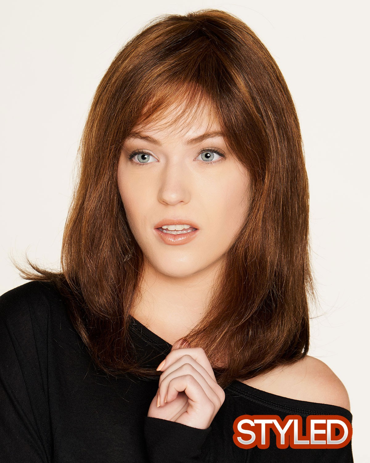 Remy Mono Long Human Hair Brown Wigs