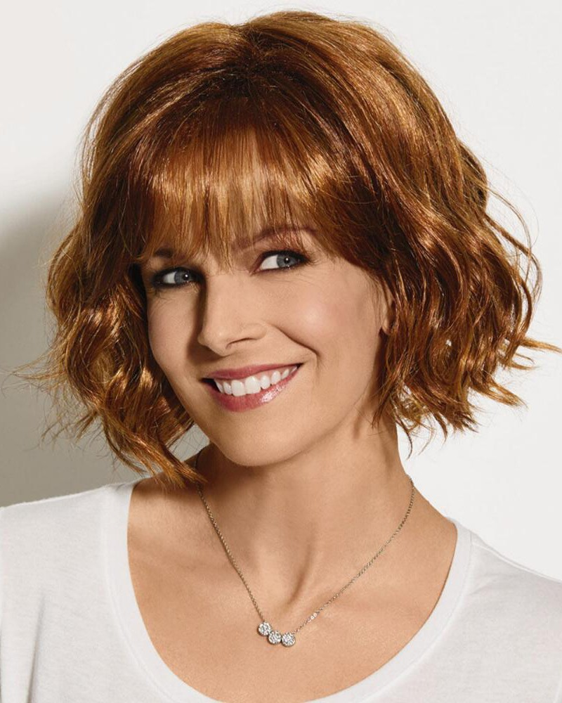 chin length bangs are a part of layered hairstyles long layers add sassy chin length bob wig with lightly tousled layers of