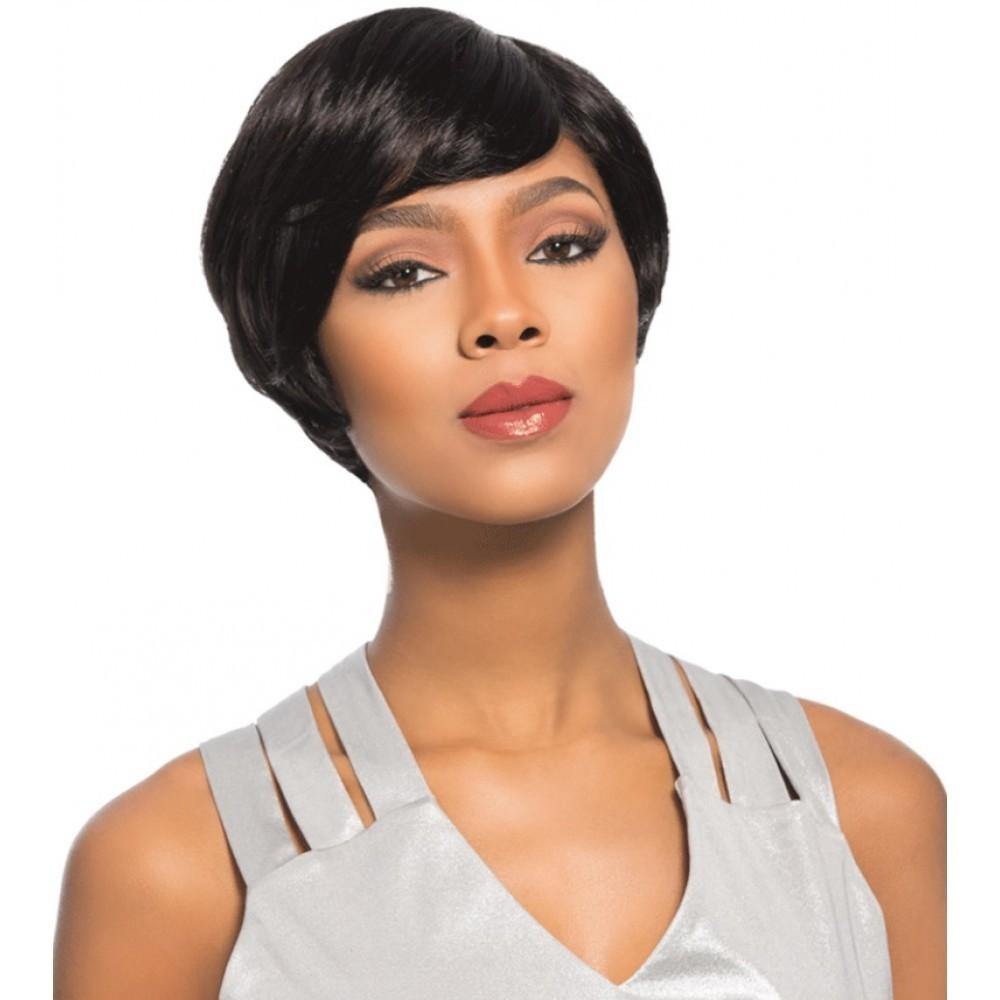 Short Black Human Hair Wig For Black Ladies