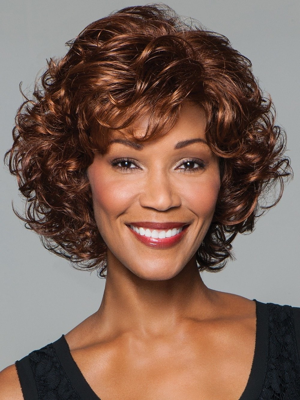 Softly Curled Layers Brown Women Wigs