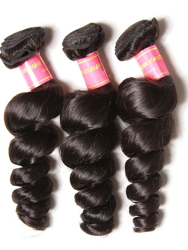 Malaysian Loose Wave Human Virgin Hair 3 Bundle Deals Unprocessed