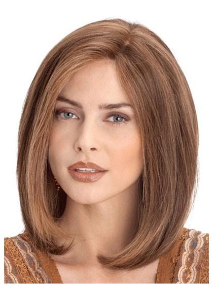 Human Hair Shoulder Length Bob Lace Front Monofilament Wigs