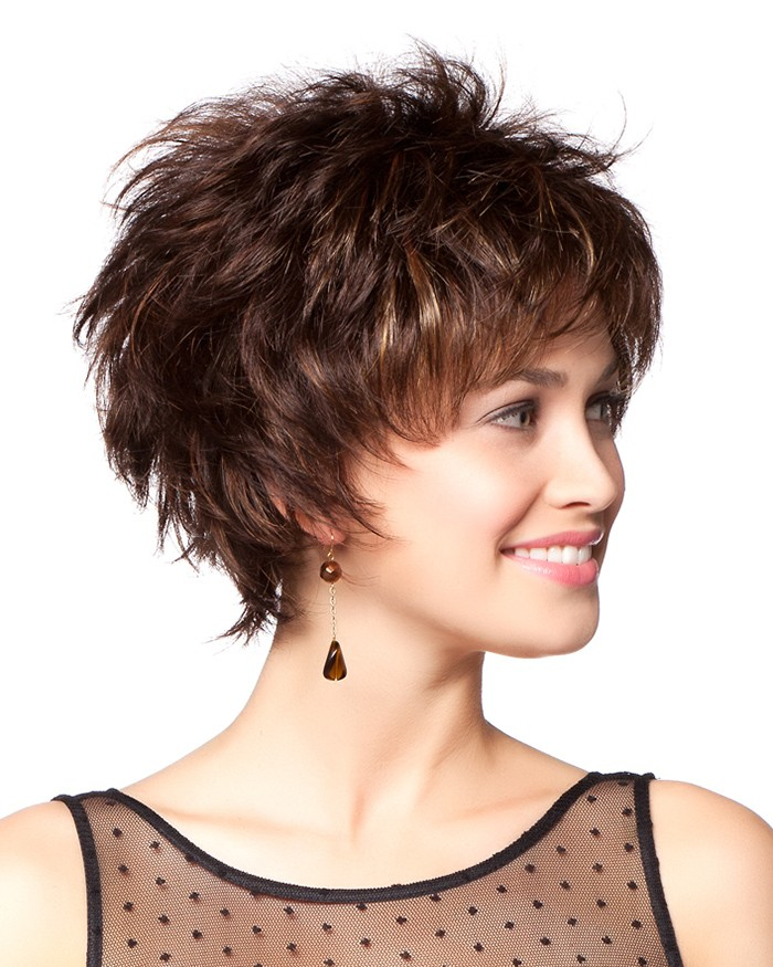 Short Layered Synthetic Capless Hair Wigs