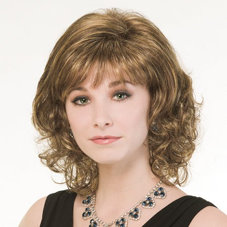 Wavy Hair With Bangs Synthetic Shoulder Length Wigs