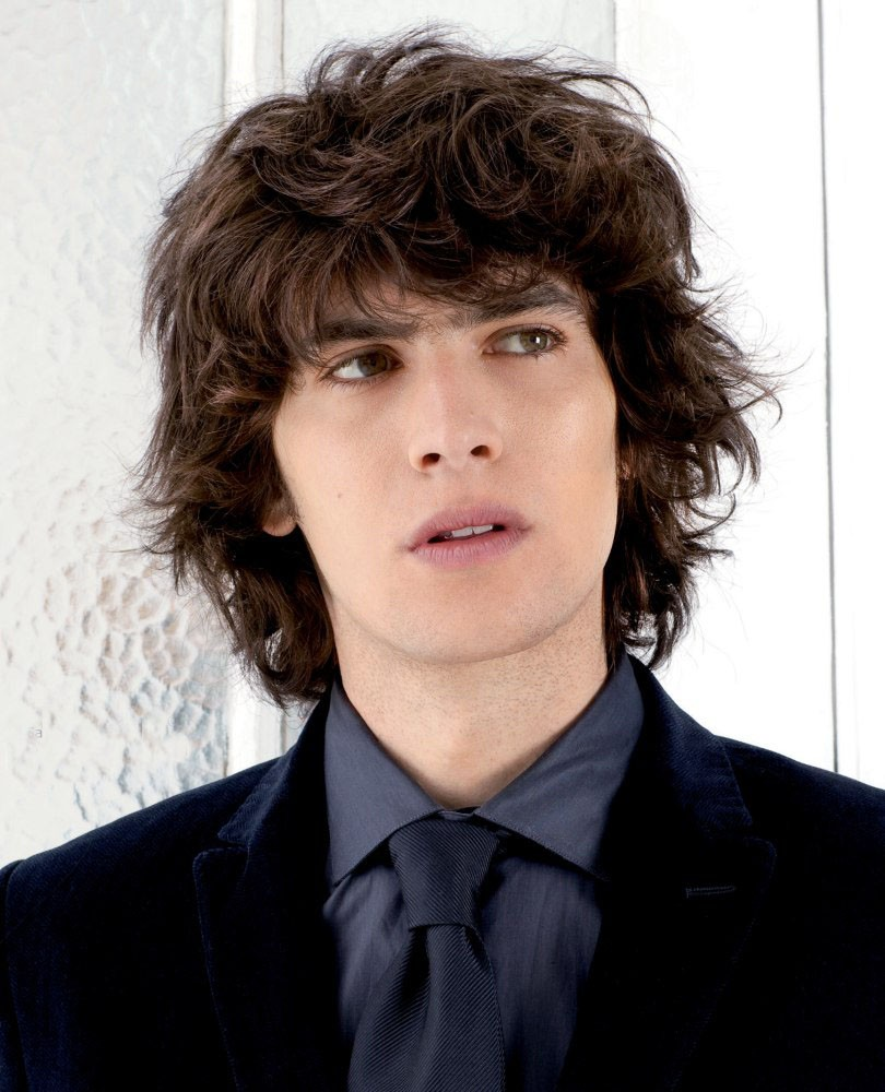 Short Curly With Bangs Mens Hair Wigs