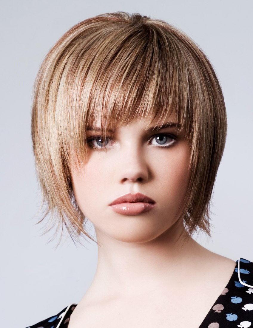 Short Capless Human Hair Wigs With Bangs